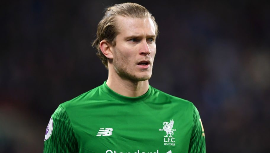 Loris Karius of Liverpool during the Premier League match between Huddersfield Town and Liverpool at John Smith's Stadium on January 30, 2018 in Huddersfield, England.  (Photo by Gareth Copley/Getty Images)