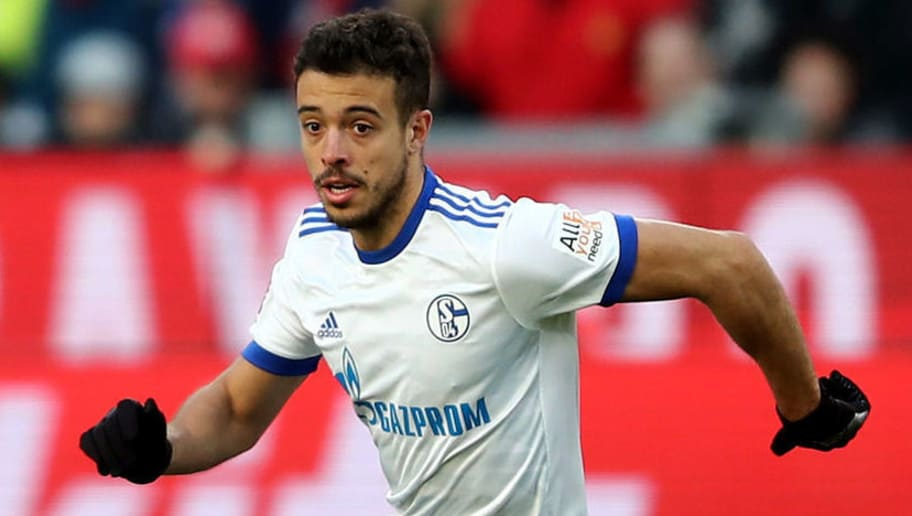 LEVERKUSEN, GERMANY - FEBRUARY 25: Franco Di Santo of Schalke runs with the ball during the Bundesliga match between Bayer 04 Leverkusen and FC Schalke 04 at BayArena on February 25, 2018 in Leverkusen, Germany. (Photo by Christof Koepsel/Bongarts/Getty Images)