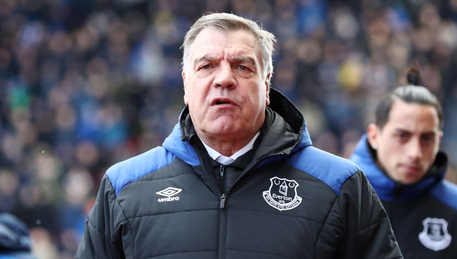 STOKE ON TRENT, ENGLAND - MARCH 17:  Sam Allardyce, Manager of Everton looks on ahead of the Premier League match between Stoke City and Everton at Bet365 Stadium on March 17, 2018 in Stoke on Trent, England.  (Photo by Matthew Lewis/Getty Images)