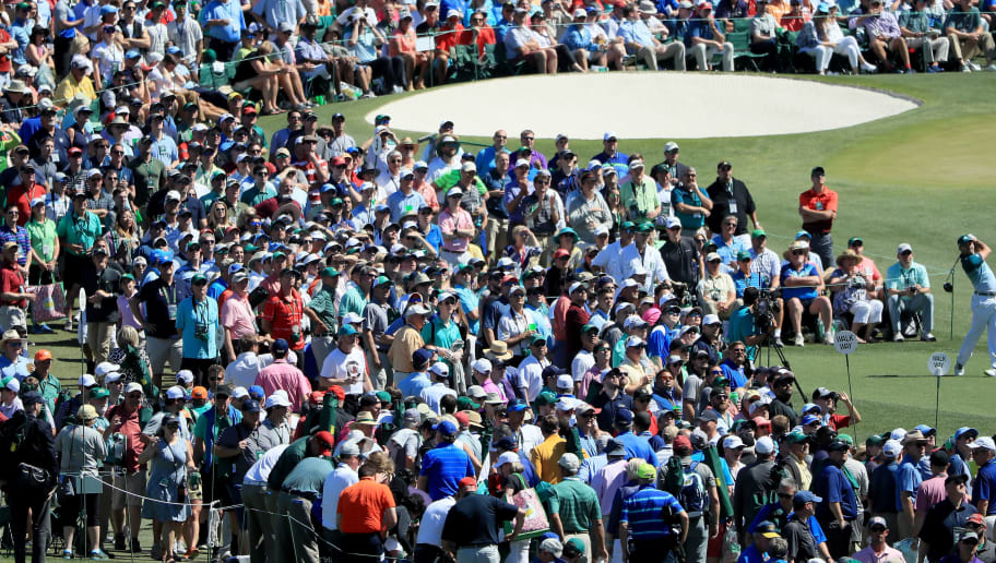 AUGUSTA, GA - APRIL 09:  Sergio Garcia of Spain plays his shot from the third tee as patrons look on during the final round of the 2017 Masters Tournament at Augusta National Golf Club on April 9, 2017 in Augusta, Georgia.  (Photo by Andrew Redington/Getty Images)