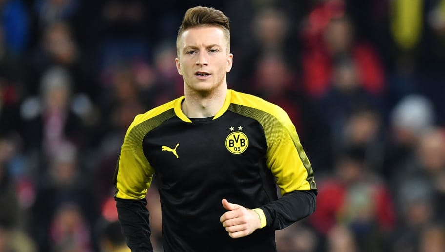 SALZBURG, AUSTRIA - MARCH 15: Marco Reus of Dortmund runs with the ball during warm up prior to the UEFA Europa League Round of 16, 2nd leg match between FC Red Bull Salzburg and Borussia Dortmund at the Red Bull Arena on March 15, 2018 in Salzburg, Austria. (Photo by Sebastian Widmann/Bongarts/Getty Images,)