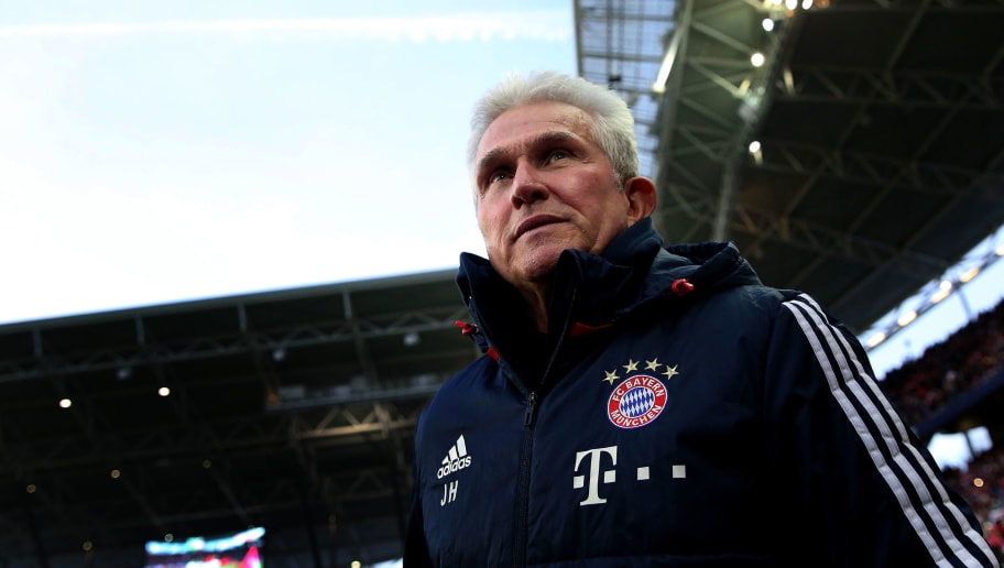 Head coach Jupp Heynckes of FC Bayern Muenchen enters the pitch prior to the Bundesliga match between RB Leipzig and FC Bayern Muenchen at Red Bull Arena on March 18, 2018 in Leipzig, Germany. (Photo by Ronny Hartmann/Bongarts/Getty Images)