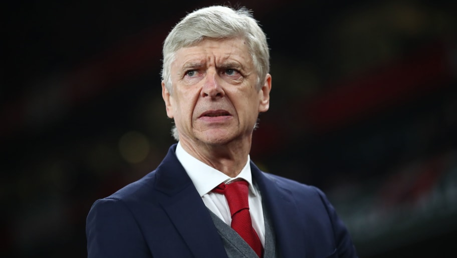LONDON, ENGLAND - MARCH 15:  Arsene Wenger of Arsenal looks on prior to the UEFA Europa League Round of 16 Second Leg match between Arsenal and AC Milan at Emirates Stadium on March 15, 2018 in London, England.  (Photo by Julian Finney/Getty Images)