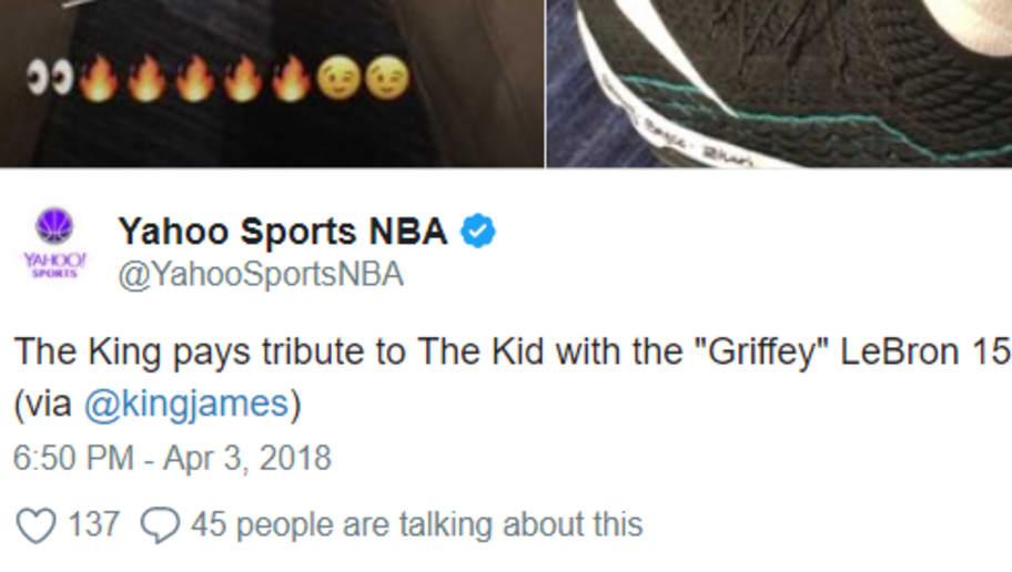 watch a99d2 8b892 LeBron Pays Tribute to Ken Griffey Jr. With Sick Custom LeBron 15s