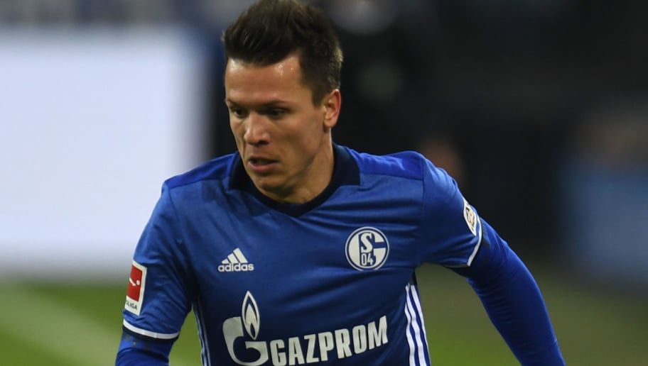 Schalke's midfielder Yevhen Konoplyanka during the German First division Bundesliga football match between Schalke 04 and Hamburg SV in Gelsenkirchen, western Germany, on November 19, 2017. / AFP PHOTO / PATRIK STOLLARZ / RESTRICTIONS: DURING MATCH TIME: DFL RULES TO LIMIT THE ONLINE USAGE TO 15 PICTURES PER MATCH AND FORBID IMAGE SEQUENCES TO SIMULATE VIDEO. == RESTRICTED TO EDITORIAL USE == FOR FURTHER QUERIES PLEASE CONTACT DFL DIRECTLY AT + 49 69 650050         (Photo credit should read PATRIK STOLLARZ/AFP/Getty Images)