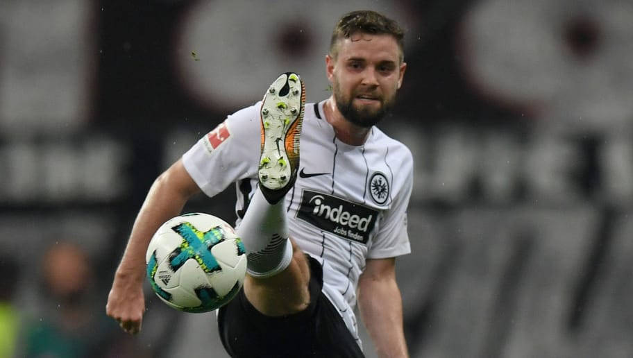 FRANKFURT AM MAIN, GERMANY - SEPTEMBER 30: Marc Stendera of Frankfurt controls the ball during the Bundesliga match between Eintracht Frankfurt and VfB Stuttgart at Commerzbank-Arena on September 30, 2017 in Frankfurt am Main, Germany. (Photo by Matthias Hangst/Bongarts/Getty Images)