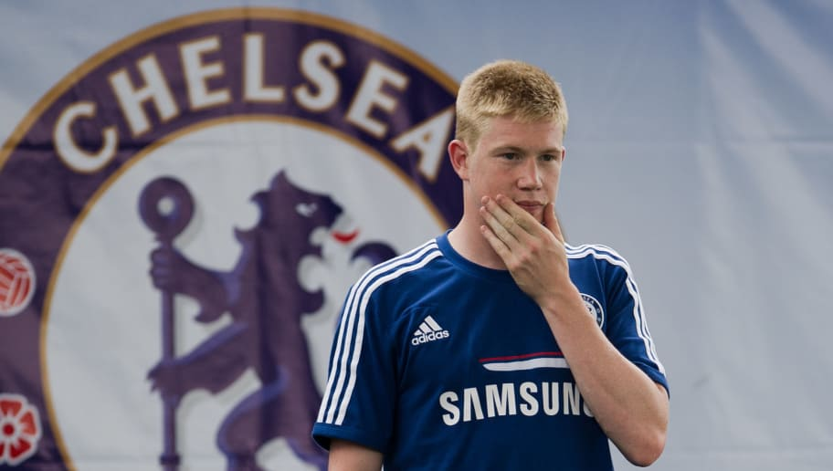 Chelsea football player Kevin De Bruyne gestures during an exhibition training with Thai children at the super kick stadium in Bangkok on July 12, 2013.  Jose Mourinho has warned that he is returning to Chelsea as a much better manager as he bids to win back the Premier League trophy and secure an elusive Champions League title with the London club.     AFP PHOTO / Nicolas ASFOURI        (Photo credit should read NICOLAS ASFOURI/AFP/Getty Images)
