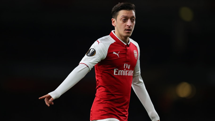 LONDON, ENGLAND - APRIL 05: Mesut Ozil of Arsenal during the UEFA Europa League quarter final leg one match between Arsenal FC and CSKA Moskva at Emirates Stadium on April 5, 2018 in London, United Kingdom. (Photo by Catherine Ivill/Getty Images)