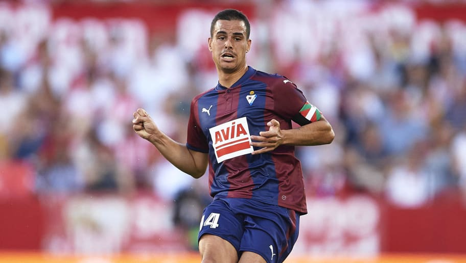 SEVILLE, SPAIN - SEPTEMBER 09:  Dani Garcia of SD Eibar in action during the La Liga match between Sevilla and Eibar at Estadio Ramon Sanchez Pizjuan on September 9, 2017 in SEPTEMBER 09:  (Photo by Aitor Alcalde/Getty Images)