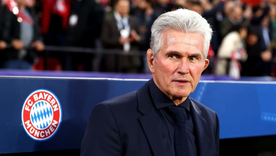 SEVILLE, SPAIN - APRIL 03:  Jupp Heynckes, coach of Bayern Muenchen looks on prior to the UEFA Champions League Quarter Final Leg One match between Sevilla FC and Bayern Muenchen at Estadio Ramon Sanchez Pizjuan on April 3, 2018 in Seville, Spain.  (Photo by Martin Rose/Bongarts/Getty Images)