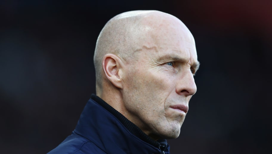 SWANSEA, WALES - DECEMBER 26: Bob Bradley, Manager of Swansea City looks on prior to the Premier League match between Swansea City and West Ham United at Liberty Stadium on December 26, 2016 in Swansea, Wales.  (Photo by Michael Steele/Getty Images)