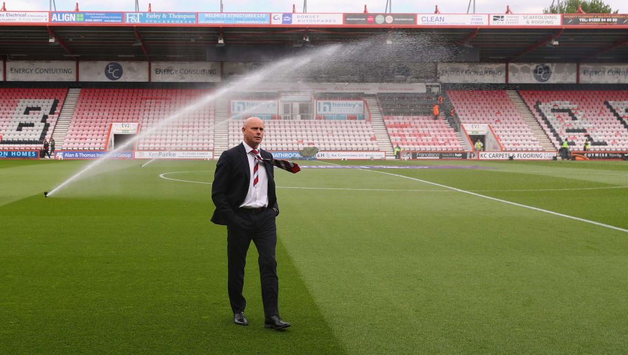 BOURNEMOUTH, ENGLAND - APRIL 22:  Steve Agnew, caretaker manager of Middlesbrough inspects the pitch prior to the Premier League match between AFC Bournemouth and Middlesbrough at the Vitality Stadium on April 22, 2017 in Bournemouth, England.  (Photo by Warren Little/Getty Images)