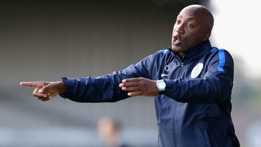 BARNET, ENGLAND - JULY 22:  Chris Ramsey, the QPR manager shouts instructions during the pre season friendly match between Queens Park Rangers and Dundee United at The Hive on July 22, 2015 in Barnet, England.  (Photo by David Rogers/Getty Images)