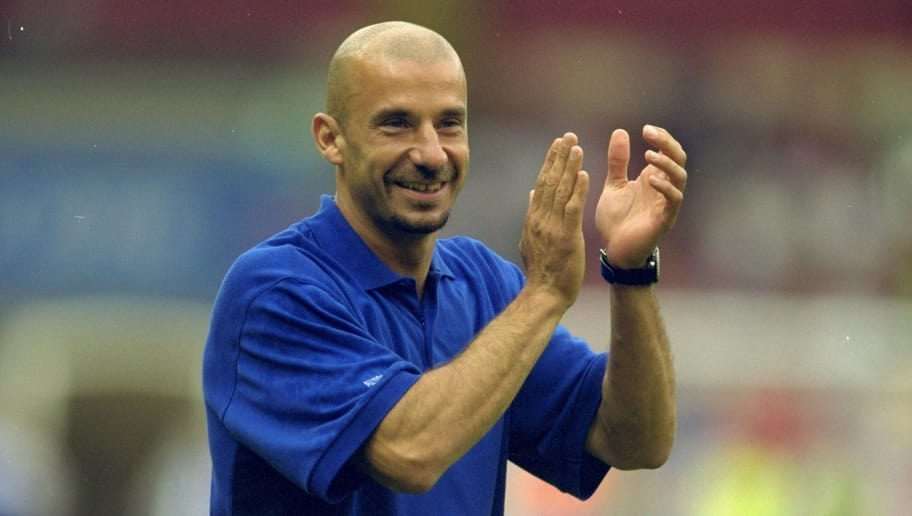 13 Aug 2000:  Chelsea manager Gianluca Vialli after the Charity Shield against Manchester United at Wembley Stadium in London.  Chelsea won the match 2-0. \ Mandatory Credit: Ben Radford /Allsport