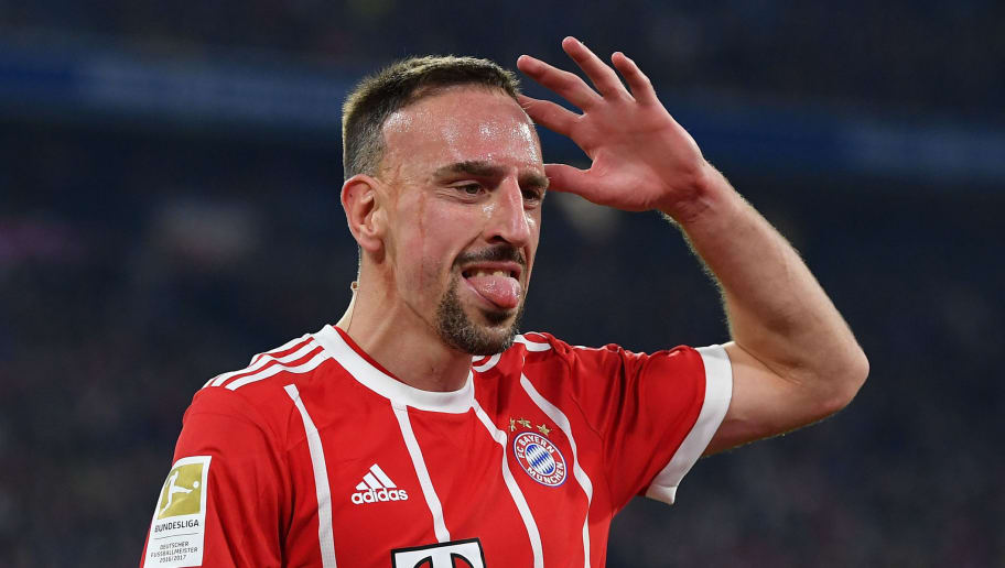 MUNICH, GERMANY - MARCH 31:  Franck Ribery of Bayern reacts during the Bundesliga match between FC Bayern Muenchen and Borussia Dortmund at Allianz Arena on March 31, 2018 in Munich, Germany.  (Photo by Stuart Franklin/Bongarts/Getty Images)