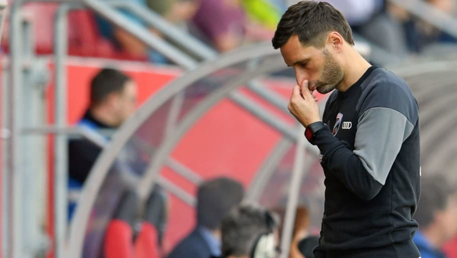 INGOLSTADT, GERMANY - APRIL 08: Head coach Stefan Leitl reacts during the Second Bundesliga match between FC Ingolstadt 04 and DSC Arminia Bielefeld at Audi Sportpark on April 8, 2018 in Ingolstadt, Germany. (Photo by Thomas Starke/Bongarts/Getty Images)