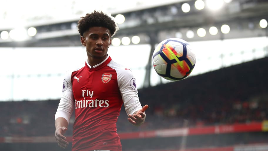 LONDON, ENGLAND - APRIL 08:  Reiss Nelson of Arsenal during the Premier League match between Arsenal and Southampton at Emirates Stadium on April 8, 2018 in London, England.  (Photo by Julian Finney/Getty Images)