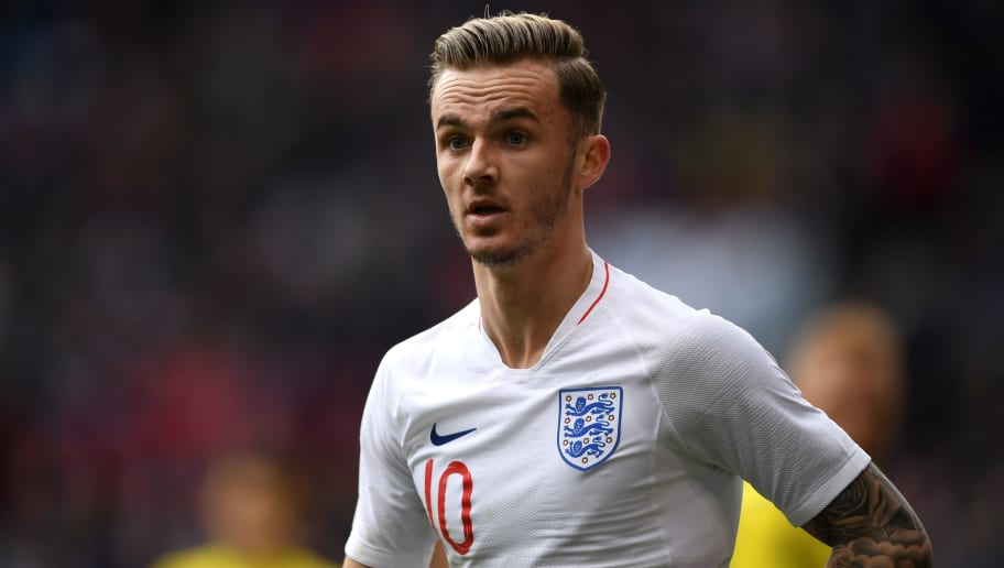 SHEFFIELD, ENGLAND - MARCH 27:  James Maddison of England during the U21 European Championship Qualifier between England U21 and Ukraine U21 at Bramall Lane on March 27, 2018 in Sheffield, England.  (Photo by Gareth Copley/Getty Images)