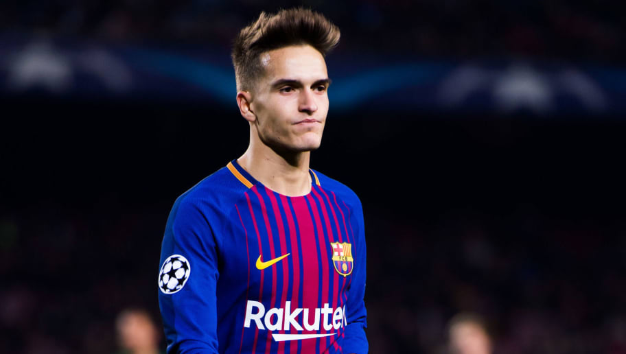 BARCELONA, SPAIN - DECEMBER 05:  Denis Suarez of FC Barcelona looks on during the UEFA Champions League group D match between FC Barcelona and Sporting CP at Camp Nou on December 5, 2017 in Barcelona, Spain.  (Photo by Alex Caparros/Getty Images)