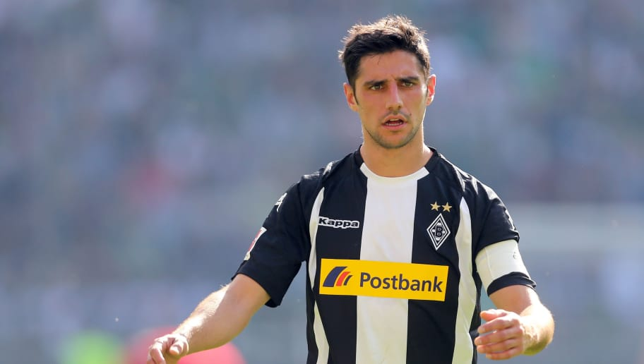 MOENCHENGLADBACH, GERMANY - APRIL 07: Lars Stindl of Moenchengladbach looks thoughtful during the Bundesliga match between Borussia Moenchengladbach and Hertha BSC at Borussia-Park on April 7, 2018 in Moenchengladbach, Germany. (Photo by Christof Koepsel/Bongarts/Getty Images)