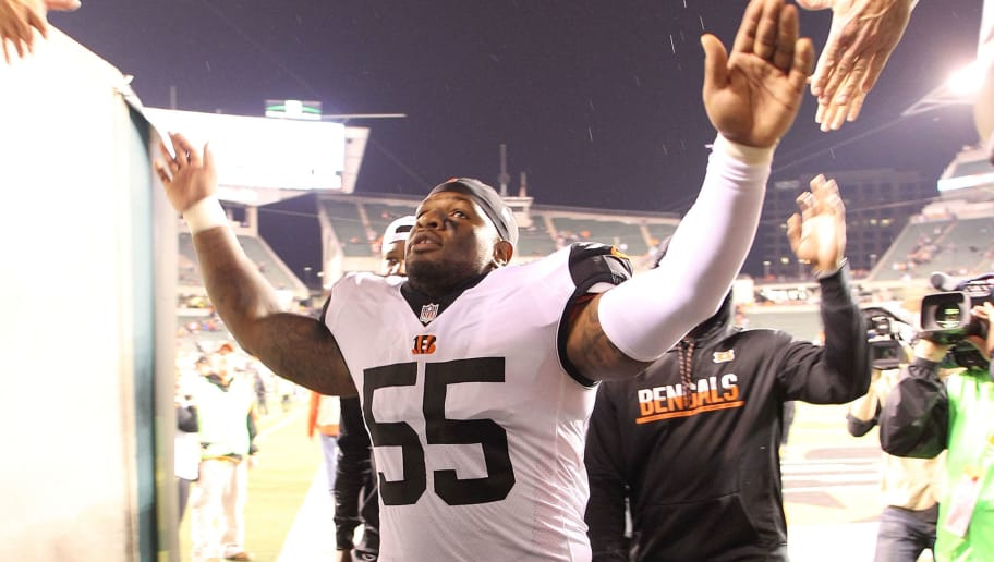 CINCINNATI, OH - SEPTEMBER 29:  Vontaze Burfict #55 of the Cincinnati Bengals shakes hands with fans as he leaves the field after defeating the Miami Dolphins 22-7 at Paul Brown Stadium on September 29, 2016 in Cincinnati, Ohio. (Photo by John Grieshop/Getty Images)