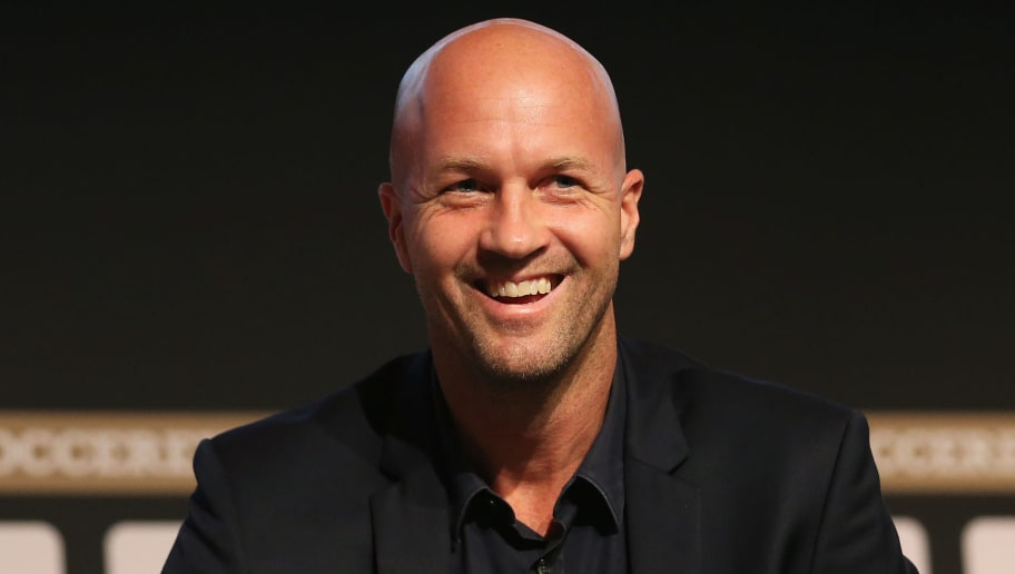MANCHESTER, ENGLAND - SEPTEMBER 04:  Jordi Cruyff, Maccabi Tel Aviv FC Head Coach smiles during day 1 of the Soccerex Global Convention at Manchester Central Convention Complex on September 4, 2017 in Manchester, England.  (Photo by Jan Kruger/Getty Images for Soccerex)