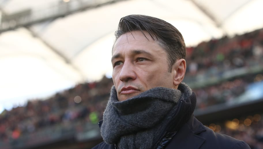 STUTTGART, GERMANY - FEBRUARY 24: Coach Niko Kovac of Frankfurt looks on before the Bundesliga match between VfB Stuttgart and Eintracht Frankfurt at Mercedes-Benz Arena on February 24, 2018 in Stuttgart, Germany. (Photo by Alex Grimm/Bongarts/Getty Images)