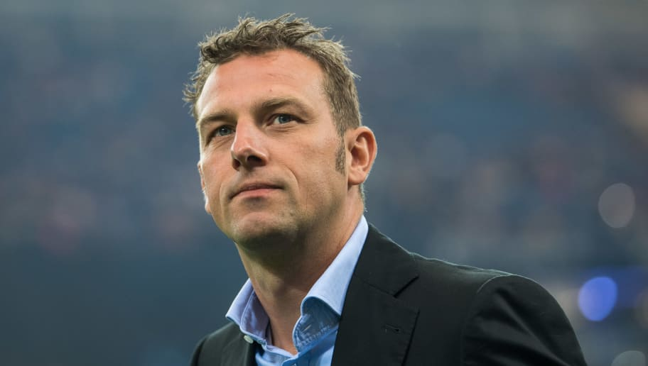 GELSENKIRCHEN, GERMANY - MAY 13: Head Coach Markus Weinzierl of Schalke is seen prior to the Bundesliga match between FC Schalke 04 and Hamburger SV at Veltins-Arena on May 13, 2017 in Gelsenkirchen, Germany. (Photo by Lukas Schulze/Bongarts/Getty Images)