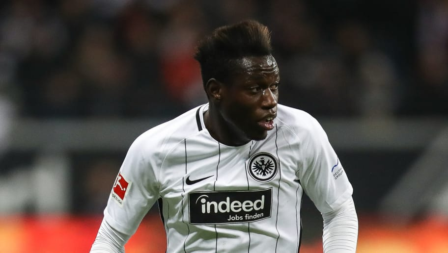 FRANKFURT AM MAIN, GERMANY - JANUARY 13: Danny da Costa #24 of Eintracht Frankfurt controls the ball during the Bundesliga match between Eintracht Frankfurt and Sport-Club Freiburg at Commerzbank-Arena on January 13, 2018 in Frankfurt am Main, Germany. (Photo by Maja Hitij/Bongarts/Getty Images)