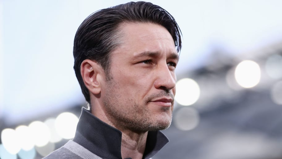 FRANKFURT AM MAIN, GERMANY - APRIL 08:  Head coach Niko Kovac of Frankfurt looks on prior to the Bundesliga match between Eintracht Frankfurt and TSG 1899 Hoffenheim at Commerzbank-Arena on April 8, 2018 in Frankfurt am Main, Germany.  (Photo by Alex Grimm/Bongarts/Getty Images)