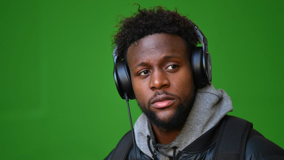 WOLFSBURG, GERMANY - MARCH 17:  Divock Origi of Wolfsburg arrives prior to the Bundesliga match between VfL Wolfsburg and FC Schalke 04 at Volkswagen Arena on March 17, 2018 in Wolfsburg, Germany.  (Photo by Stuart Franklin/Bongarts/Getty Images)