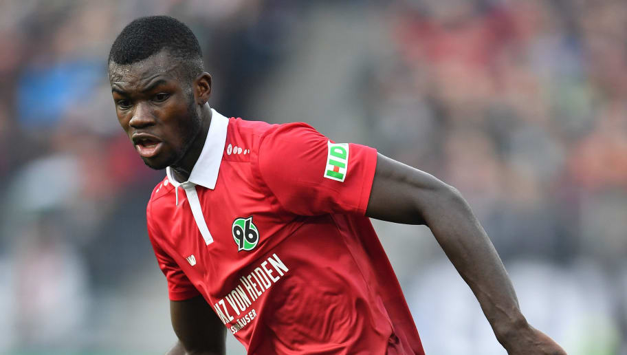 HANOVER, GERMANY - MARCH 10:  Ihlas Bebou of Hannover in action during the Bundesliga match between Hannover 96 and FC Augsburg at HDI-Arena on March 10, 2018 in Hanover, Germany.  (Photo by Stuart Franklin/Bongarts/Getty Images)