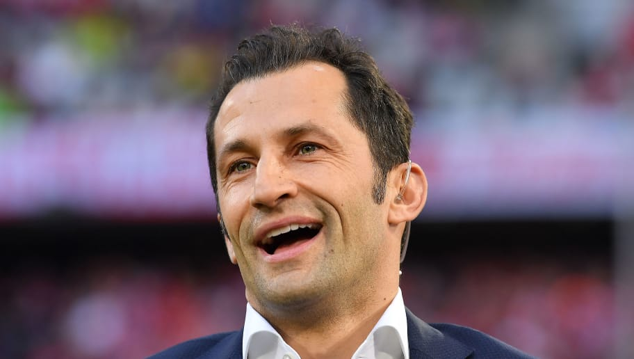 MUNICH, GERMANY - APRIL 14: Hasan Salihamidzic, sporting director of Bayern Muenchen, looks on before the Bundesliga match between FC Bayern Muenchen and Borussia Moenchengladbach at Allianz Arena on April 14, 2018 in Munich, Germany. (Photo by Sebastian Widmann/Bongarts/Getty Images,)