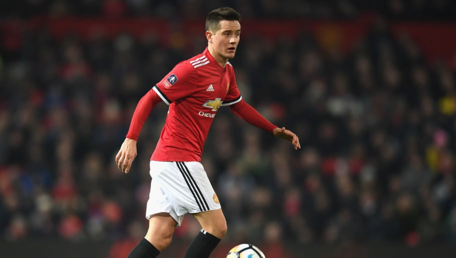 MANCHESTER, ENGLAND - JANUARY 05:  Ander Herrera of Manchester United in action during the FA Cup 3rd round match between Manchester United and derby County at Old Trafford on January 5, 2018 in Manchester, England.  (Photo by Michael Regan/Getty Images)