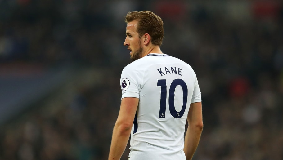 LONDON, ENGLAND - APRIL 14: Harry Kane of Tottenham Hotspur during the Premier League match between Tottenham Hotspur and Manchester City at Wembley Stadium on April 14, 2018 in London, England. (Photo by Catherine Ivill/Getty Images)