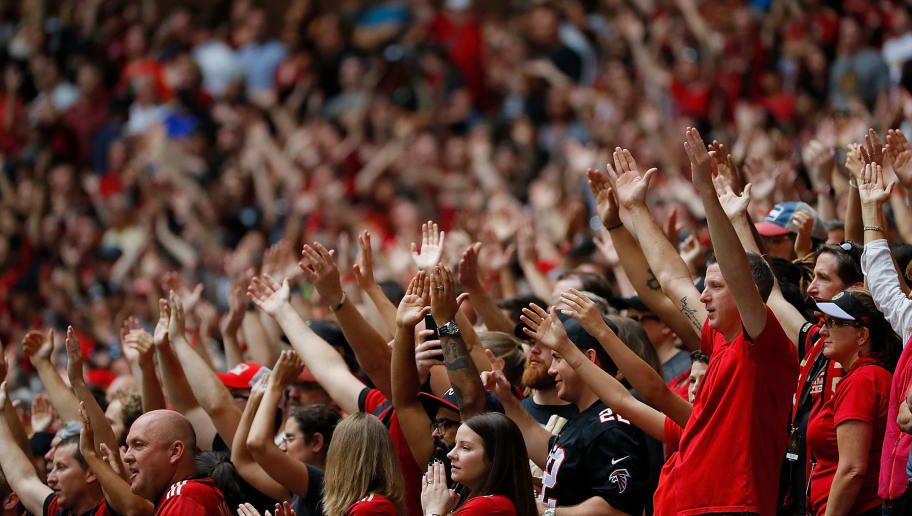ATLANTA, GA - OCTOBER 22:  Fans watch the match between the Atlanta United and the Toronto FC at Mercedes-Benz Stadium on October 22, 2017 in Atlanta, Georgia.  (Photo by Kevin C. Cox/Getty Images)