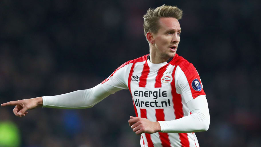 EINDHOVEN, NETHERLANDS - MARCH 17:  Luuk de Jong of PSV in action during the Dutch Eredivisie match between PSV Eindhoven and VVV Venlo held at Philips Stadion on March 17, 2018 in Eindhoven, Netherlands.  (Photo by Dean Mouhtaropoulos/Getty Images)