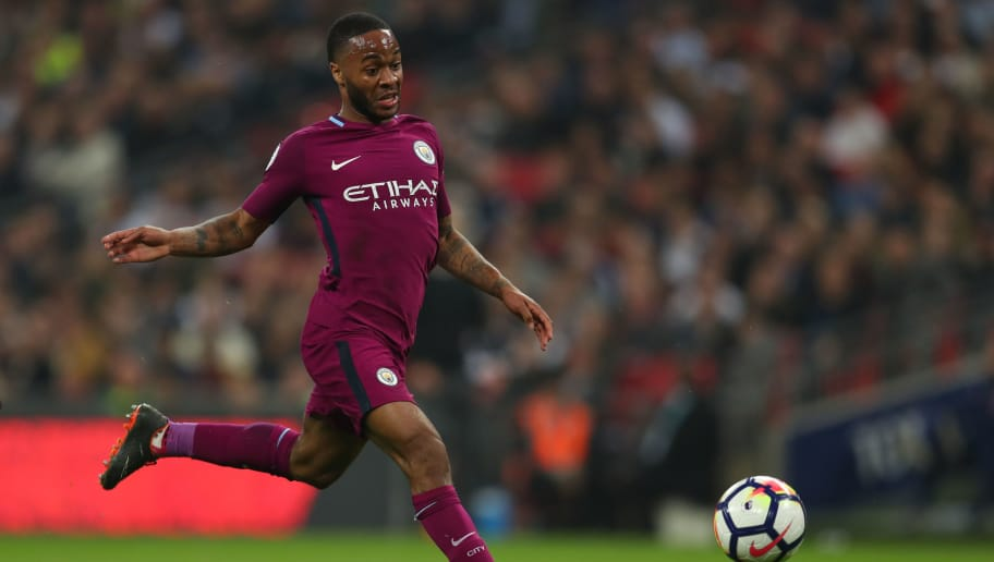 LONDON, ENGLAND - APRIL 14: Raheem Sterling of Manchester City during the Premier League match between Tottenham Hotspur and Manchester City at Wembley Stadium on April 14, 2018 in London, England. (Photo by Catherine Ivill/Getty Images)