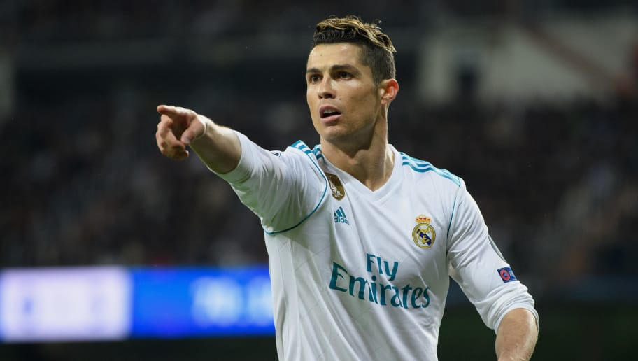 MADRID, SPAIN - APRIL 11: Cristiano Ronaldo of Real Madrid gestures during the UEFA Champions League Quarter Final Second Leg match between Real Madrid and Juventus at Estadio Santiago Bernabeu on April 11, 2018 in Madrid, Spain. (Photo by Matthias Hangst/Bongarts/Getty Images)