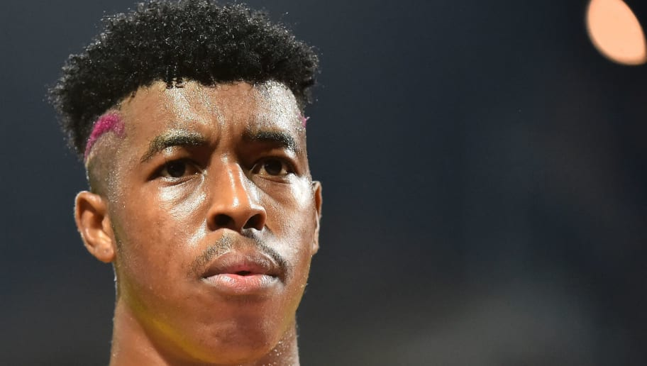 Paris Saint-Germain's French defender Presnel Kimpembe looks on during the French L1 Football match between Angers (SCO) and Paris Saint-Germain (PSG) on November 4, 2017 at the Raymond-Kopa Stadium in Angers, northwestern France. / AFP PHOTO / JEAN-FRANCOIS MONIER        (Photo credit should read JEAN-FRANCOIS MONIER/AFP/Getty Images)