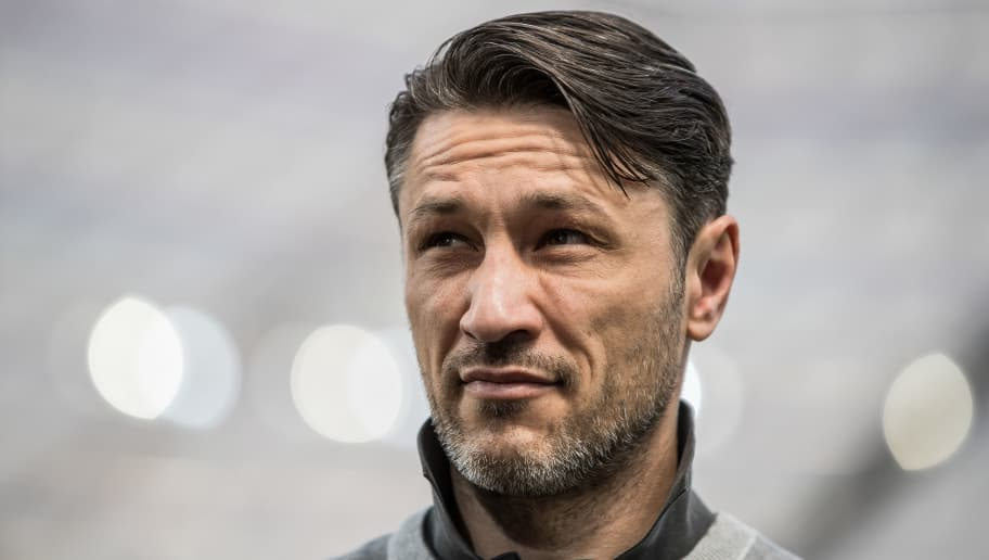 LEVERKUSEN, GERMANY - APRIL 14: Head Coach Niko Kovac of Eintracht Frankfurt looks on prior the Bundesliga match between Bayer 04 Leverkusen and Eintracht Frankfurt at BayArena on April 14, 2018 in Leverkusen, Germany. (Photo by Maja Hitij/Bongarts/Getty Images)