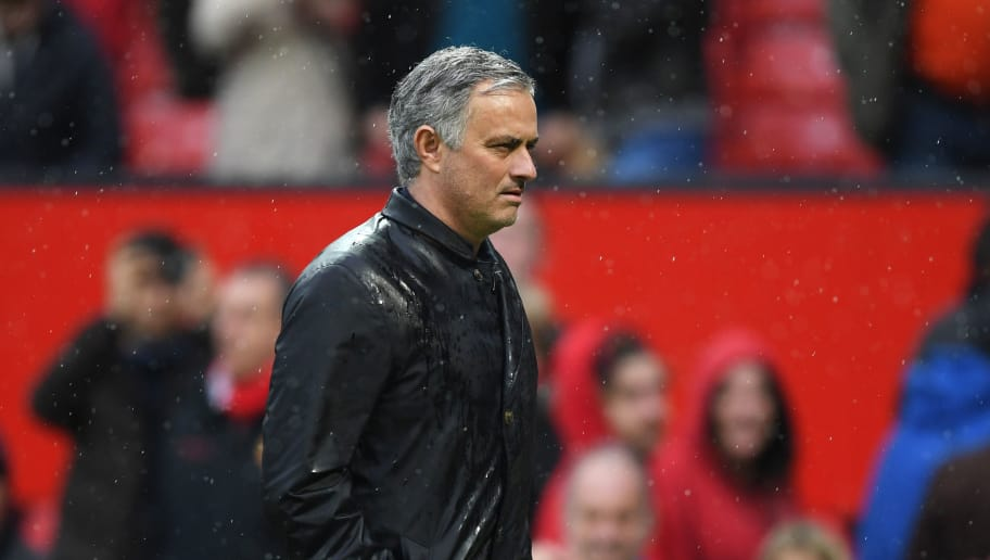 MANCHESTER, ENGLAND - APRIL 15:  Jose Mourinho, Manager of Manchester United looks on after the Premier League match between Manchester United and West Bromwich Albion at Old Trafford on April 15, 2018 in Manchester, England.  (Photo by Shaun Botterill/Getty Images)