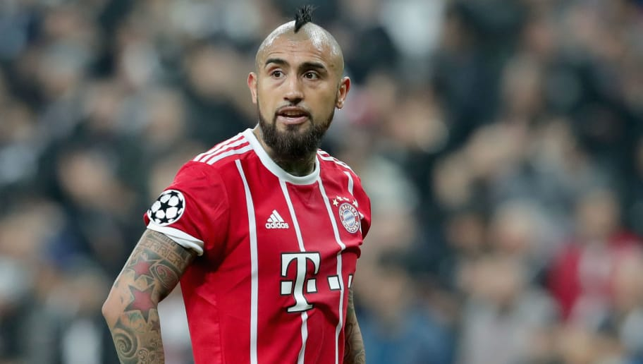 ISTANBUL, TURKEY - MARCH 14:  Arturo Vidal of FC Bayern Muenchen looks on during the UEFA Champions League Round of 16 Second Leg match Besiktas and Bayern Muenchen at Vodafone Park on March 14, 2018 in Istanbul, Turkey.  (Photo by Alexander Hassenstein/Bongarts/Getty Images)