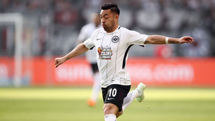 FRANKFURT AM MAIN, GERMANY - APRIL 08:  Marco Fabian of Frankfurt controls the ball during the Bundesliga match between Eintracht Frankfurt and TSG 1899 Hoffenheim at Commerzbank-Arena on April 8, 2018 in Frankfurt am Main, Germany.  (Photo by Alex Grimm/Bongarts/Getty Images)