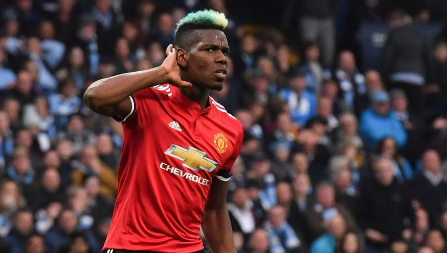 d00e0e775 TOPSHOT - Manchester United s French midfielder Paul Pogba celebrates  scoring their second goal to equalise 2