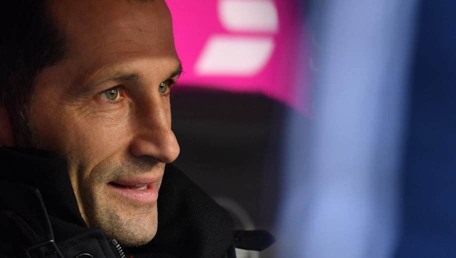 MUNICH, GERMANY - FEBRUARY 24: Sporting director Hasan Salihamidzic of Bayern Muenchen looks on prior to the Bundesliga match between FC Bayern Muenchen and Hertha BSC at Allianz Arena on February 24, 2018 in Munich, Germany. (Photo by Sebastian Widmann/Bongarts/Getty Images)