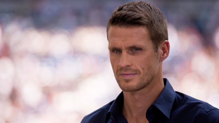 GELSENKIRCHEN, GERMANY - JUNE 04: Former player and ZDF TV-Expert Sebastian Kehl during interview prior the international friendly match between Germany and Hungary  at Veltins-Arena on June 4, 2016 in Gelsenkirchen, Germany. Germany won 2:0. (Photo by Maja Hitij/Bongarts/Getty Images)