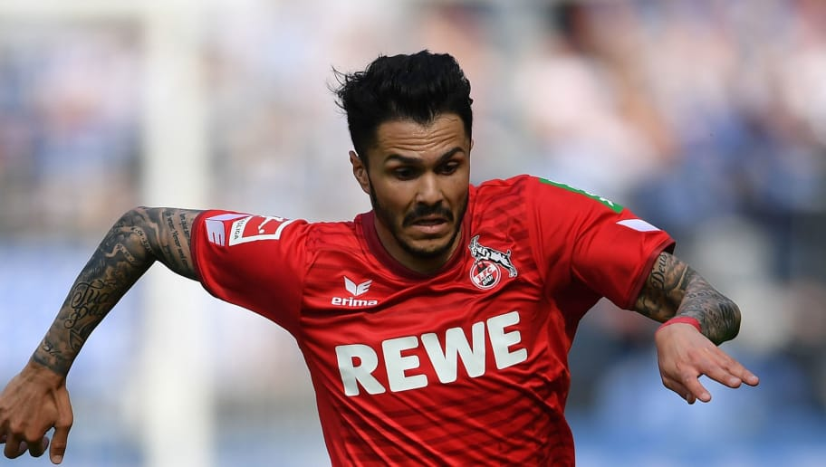 BERLIN, GERMANY - APRIL 14:  Leonardo Bittencourt of Cologne in action during the Bundesliga match between Hertha BSC and 1. FC Koeln at Olympiastadion on April 14, 2018 in Berlin, Germany.  (Photo by Stuart Franklin/Bongarts/Getty Images)