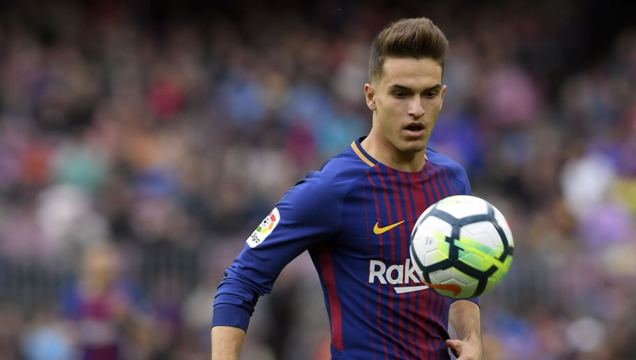 Barcelona's Spanish midfielder Denis Suarez eyes the ball during the Spanish league footbal match between FC Barcelona and Valencia CF at the Camp Nou stadium in Barcelona on April 14, 2018. / AFP PHOTO / LLUIS GENE        (Photo credit should read LLUIS GENE/AFP/Getty Images)