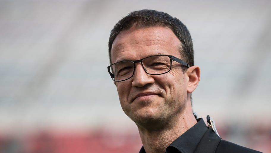 LEVERKUSEN, GERMANY - APRIL 14: Fredi Bobic sporting director of Eintracht Frankfurt looks on prior the Bundesliga match between Bayer 04 Leverkusen and Eintracht Frankfurt at BayArena on April 14, 2018 in Leverkusen, Germany. (Photo by Maja Hitij/Bongarts/Getty Images)